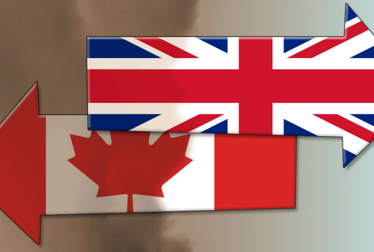 Climate opposites: Canada & UK