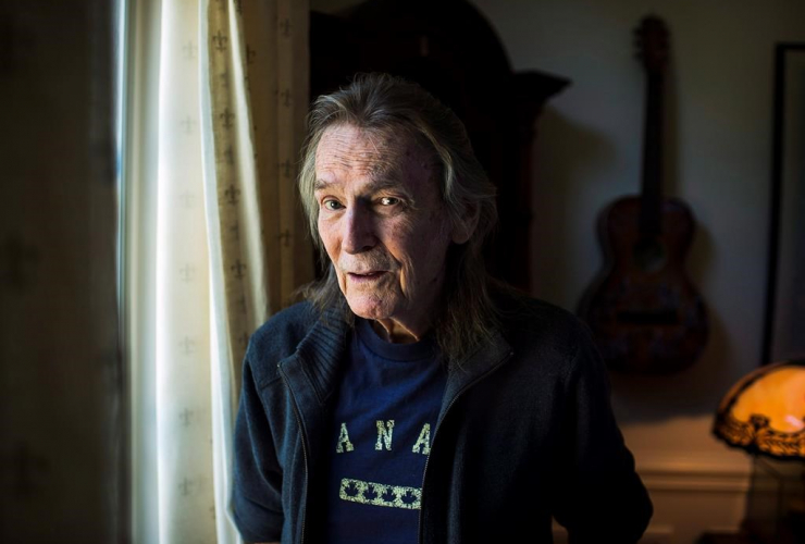 Gordon Lightfoot poses for a photo in his Toronto home ahead of a series of North American tour dates on August 3, 2016.
