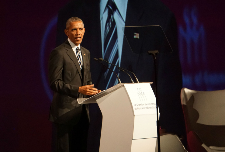 Barack Obama, U.S. President, Montreal, Chamber of Commerce of Metropolitan Montreal, Palais de Congres