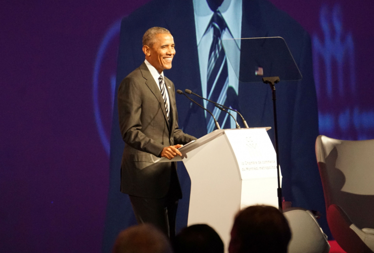 Barack Obama, U.S. President, Montreal, Chamber of Commerce of Metropolitan Montreal, Palais de Congres
