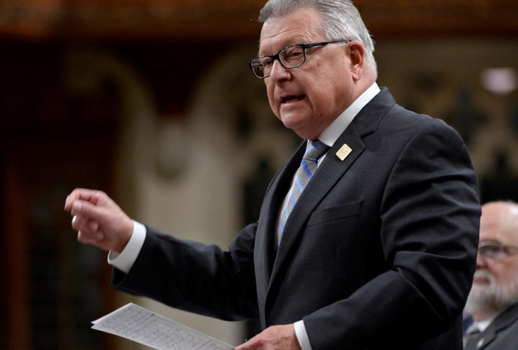 Public Safety Minister Ralph Goodale responds to a question during question period in the House of Commons on Parliament Hill in Ottawa on Tuesday, May 30, 2017.