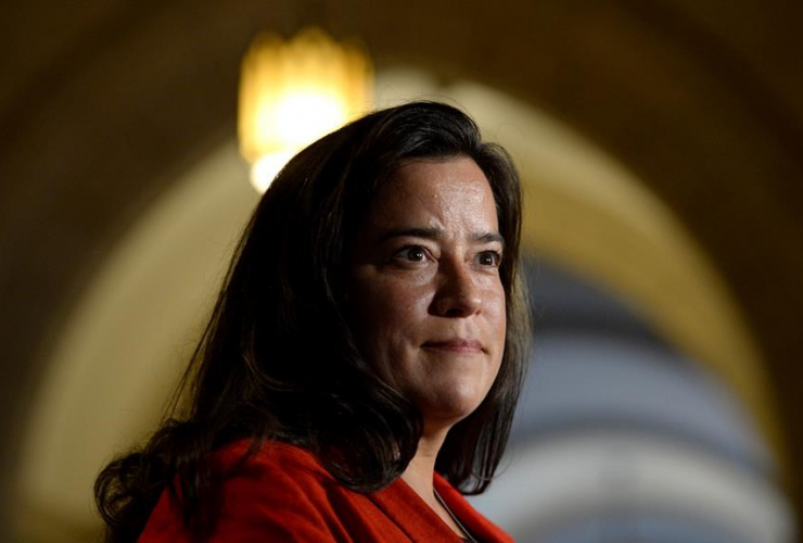 Minister of Justice Jody Wilson-Raybould speaks to members of the media on Parliament Hill in Ottawa on Tuesday, June 6, 2017.