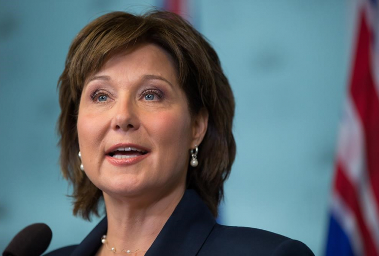 B.C. Premier Christy Clark speaks during a news conference in Vancouver, B.C., on Tuesday May 30, 2017.