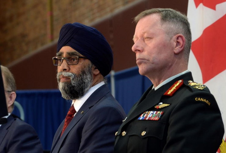 Defence Minister Harjit Sajjan unveils the Liberal government's long-awaited vision for expanding the Canadian Armed Forces in Ottawa on Wednesday June 7, 2017. Photo by The Canadian Press/Adrian Wyld