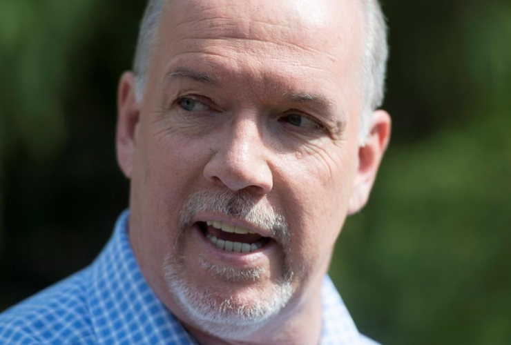 B.C. NDP Leader John Horgan is seen at a park in Vancouver, B.C. Wednesday, June 7, 2017, where he spoke about the future of daycare in the province of British Columbia.