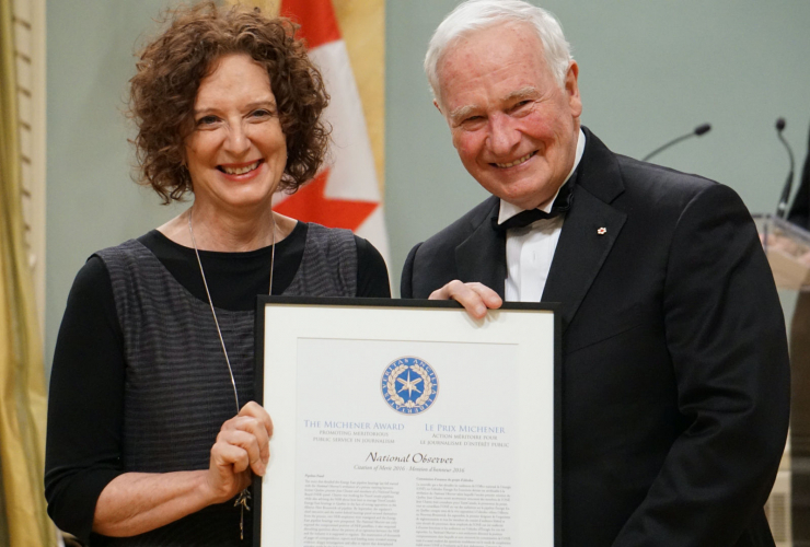 Linda Solomon Wood, National Observer, Governor General, Michener Awards, Charest Affair