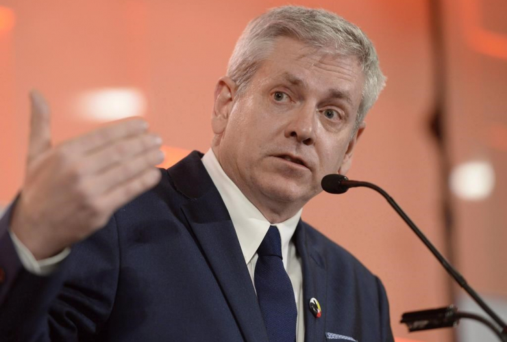 Charlie Angus takes part in the first debate of the federal NDP leadership race in Ottawa on Sunday, March 12, 2017. File photo by The Canadian Press/Justin Tang