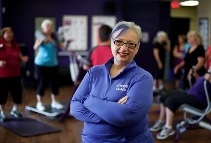 Cancer survivor Sarah Metcalfe is shown in her exercise studio in Ottawa, on Monday, June 19, 2017.