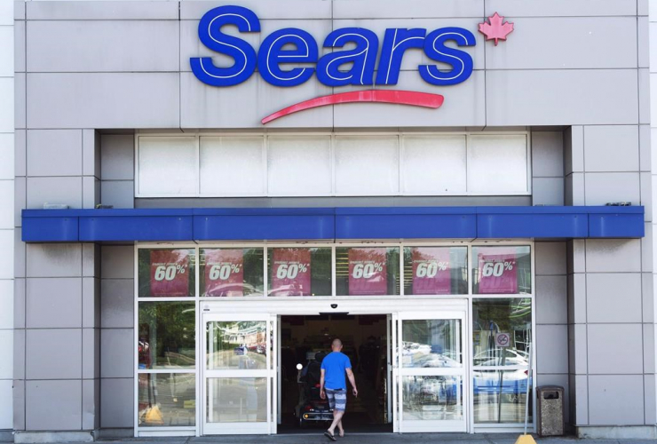 A Sears Canada outlet is seen on Tuesday, June 13, 2017 in Saint-Eustache, Quebec.