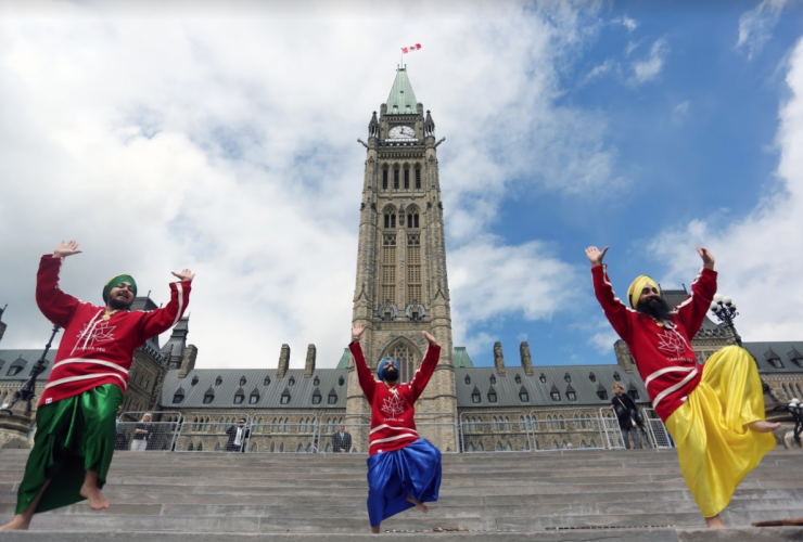 Maritime Bhangra Group, Parliament Hill, Canada150