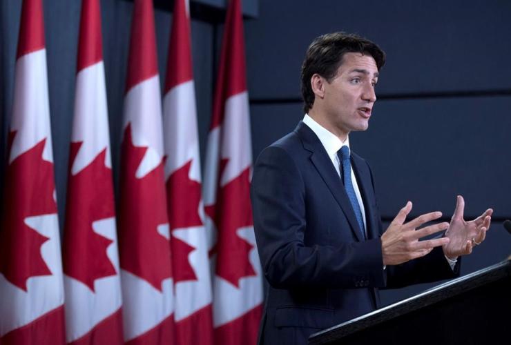 Prime Minister Justin Trudeau, media availability, National Press Theatre, Ottawa