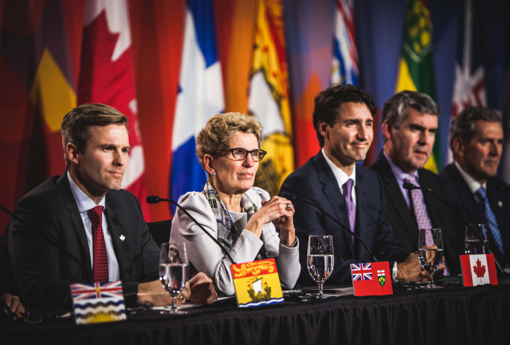 Kathleen Wynne, Ottawa, climate change, Justin Trudeau, Brian Gallant, Stephen McNeil, Brian Pallister