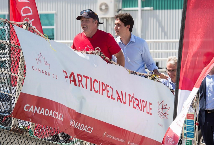 Expedition leader, Geoff Green, Prime Minister Justin Trudeau, C3 Canada vessel, Charlottetown