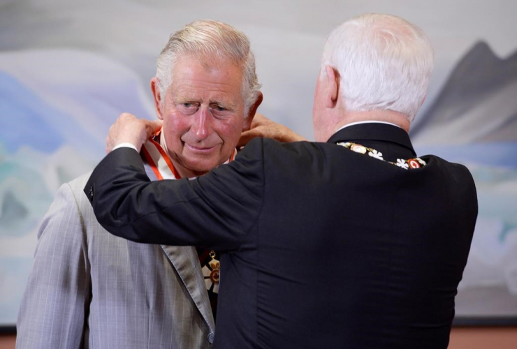 Prince Charles, Extraordinary Companion to the Order of Canada medal, Governor General David Johnston, Rideau Hall, Ottawa