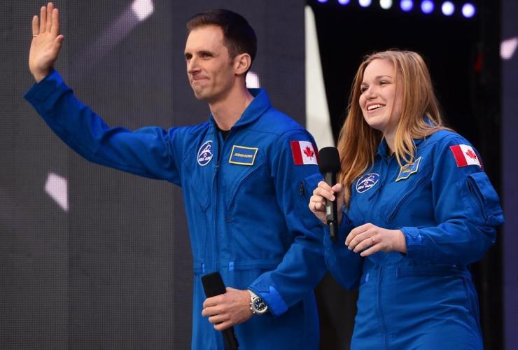 Canada, astronauts, Joshua Kutryk, Jennifer Sidey, Canada 150 celebrations, Parliament Hill, Ottawa, July 1, canada day