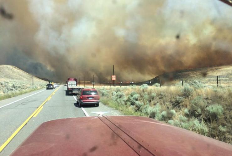 Smoke, wildfire, Ashcroft, British Columbia
