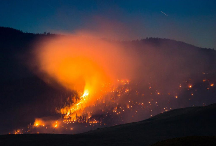 wildfire, mountain, Ashcroft, British Columbia