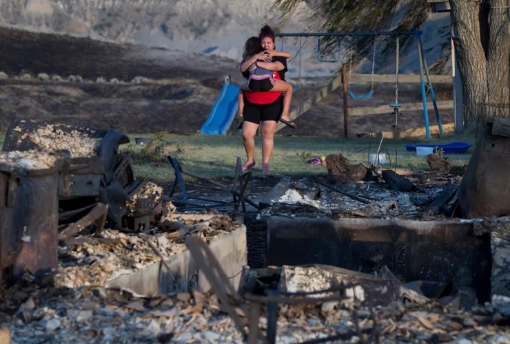 Kelsey Thorne, Nevaeh Porter, home, destroyed, wildfire, Ashcroft First Nation, Ashcroft
