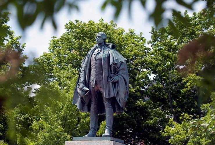 statue, Edward Cornwallis, Halifax park, downtown park, contentious founder