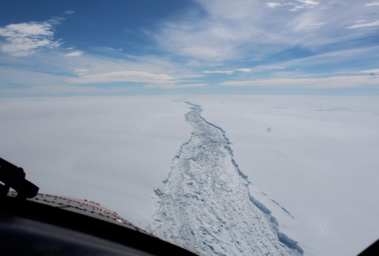 Larsen C ice shelf, Antarctica, Antarctic Survey, British Antarctic Surey,