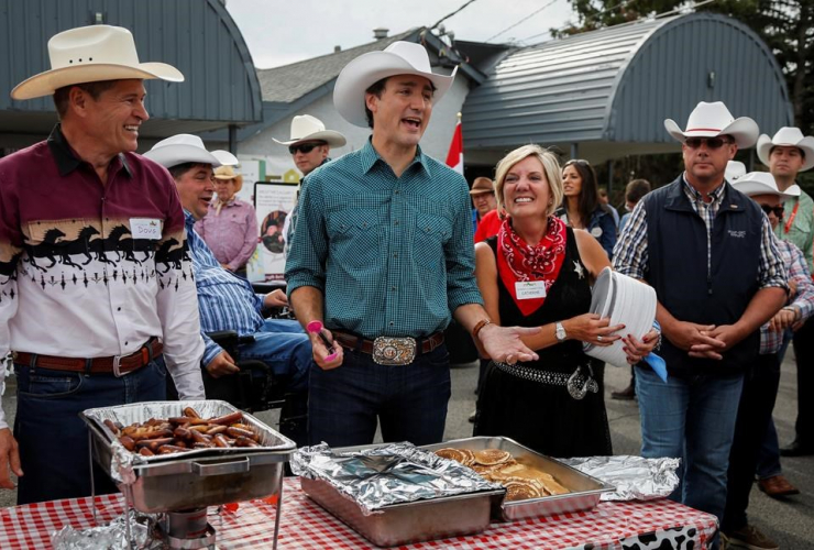 Prime Minister Justin Trudeau, pancakes, Calgary Stampede, Stampede breakfast, Calgary
