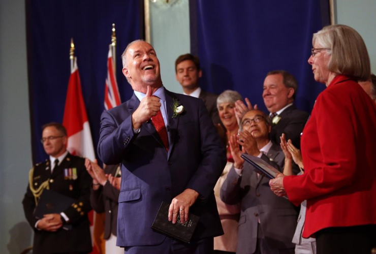 B.C. Premier John Horgan and his cabinet are sworn in on July 18, 2017