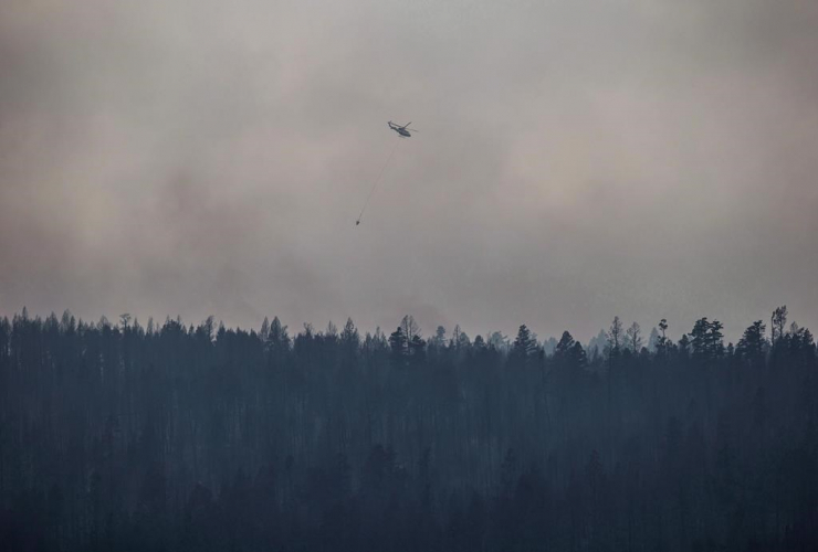 helicopter, wildfire, Ashcroft