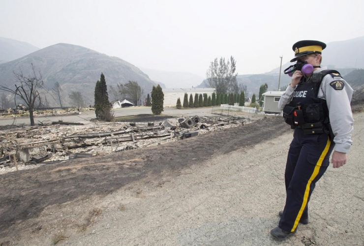 Boston Flats, B.C., wildfire,
