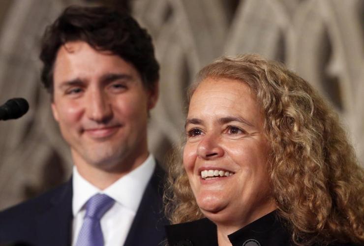 Prime Minister Justin Trudeau, astronaut, Governor General designate, Julie Payette, Parliament Hill,