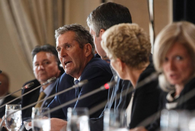 Manitoba Premier Brian Pallister, press conference, Council of Federation meetings, Edmonton