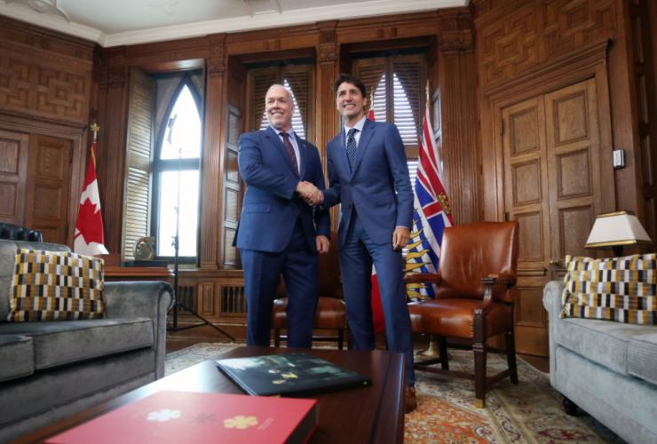 John Horgan, Justin Trudeau, Parliament Hill, Kinder Morgan, B.C. premier