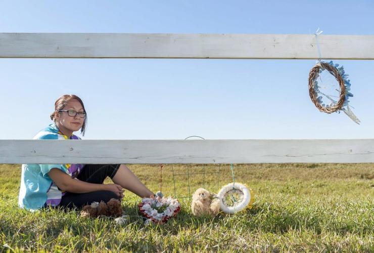 Janine Windolph, president, Regina Indian Industrial School commemorative association, RIIS, cemetery, Regina, Saskatchewan,