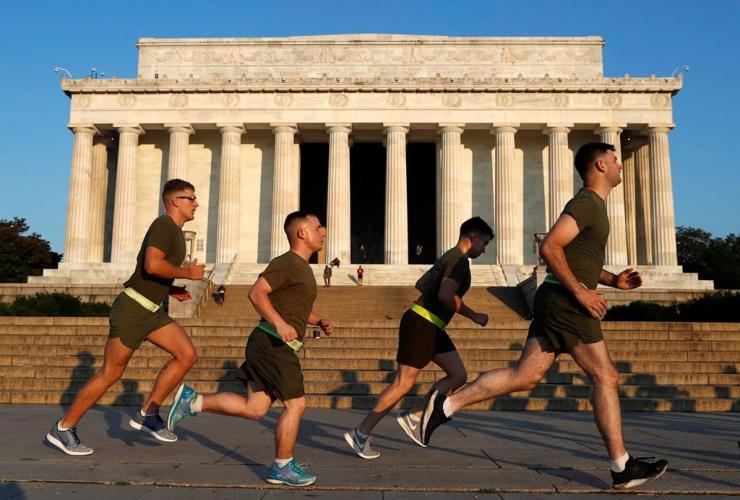 military, Lincoln Memorial, National Mall, Washington,