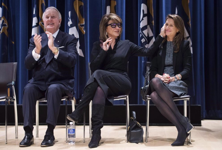 Brian Mulroney, Mila, Caroline Mulroney Lapham, Brian Mulroney Institute of Government and Mulroney Hall,
