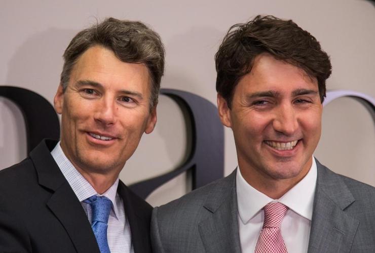 Prime Minister Justin Trudeau, Vancouver mayor Gregor Robertson, Vancouver,