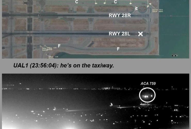 National Transportation Safety Board, NTSB, Air Canada flight 759, ACA 759, San Francisco International Airport, San Francisco