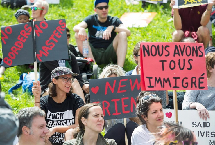 Montreal, Olympic Stadium, refugees, asylum seekers, Haiti, Donald Trump