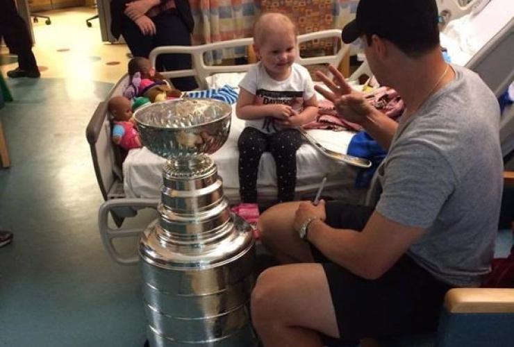 Sidney Crosby, Harper Saunders, leukemia, Halifax hospital