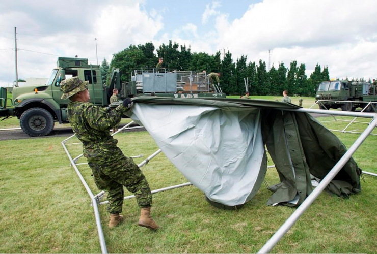 Refugees, Canadian Armed Forces, asylum-seekers, Quebec