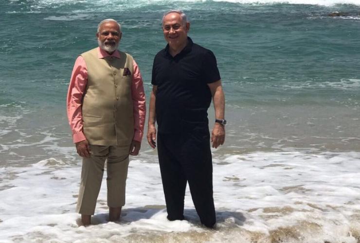 Narendra Modi, Benjamin Netanyahu, Mediterranean Sea, Israel, India