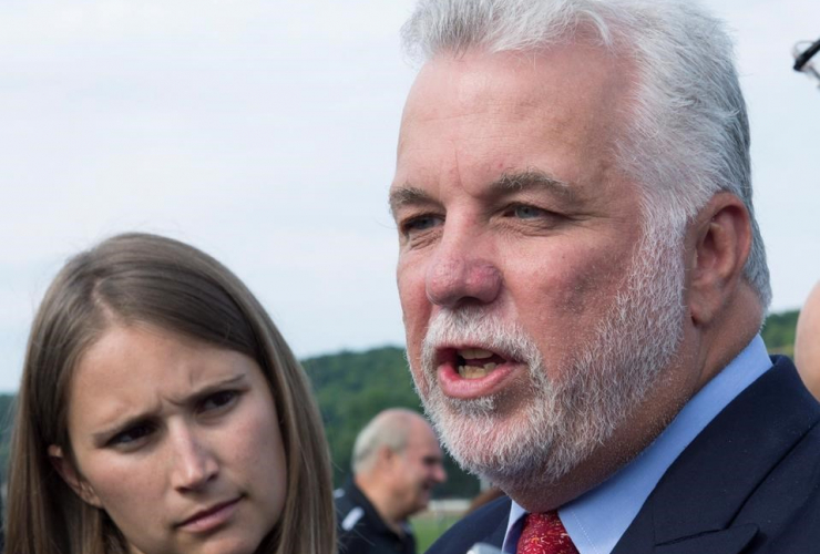 """""""We are not being honest with Quebecers regarding the difference between an illegal immigrant and an asylum seeker,"""" Couillard told reporters in Quebec City on August 15, 2017."""