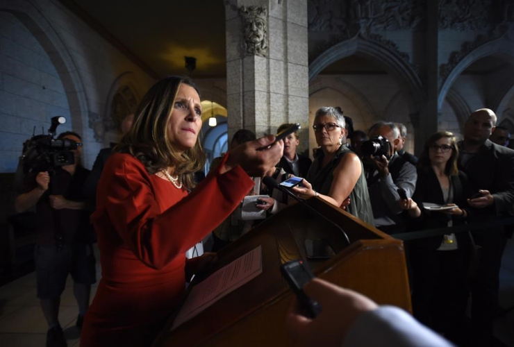 Foreign Affairs Minister, Chrystia Freeland, Parliament Hill,