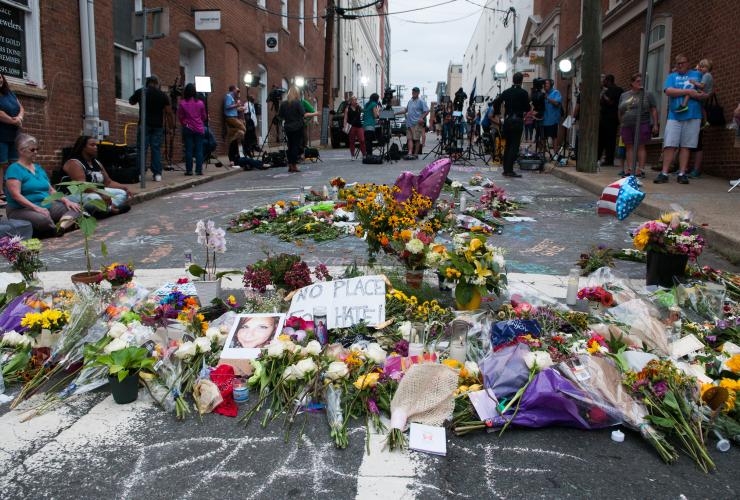 Charlottesville, white supremacist, vigil