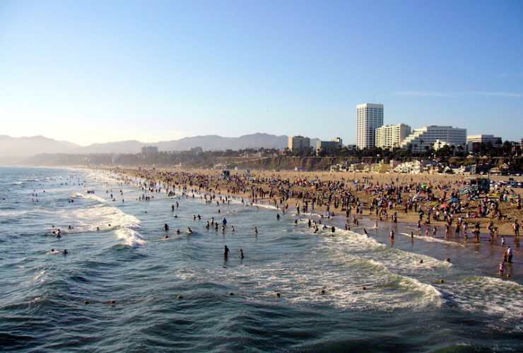 The Beach at Santa Monica: Wikimedia creative commons