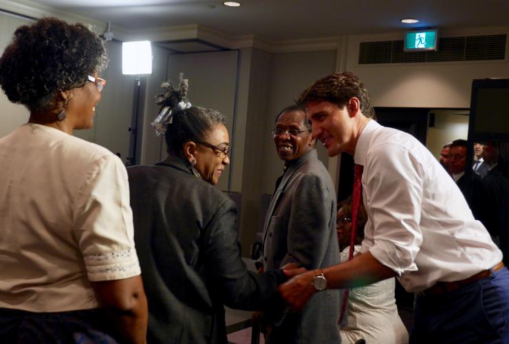 Trudeau, Justin Trudeau, meeting, Task Force, Haitian leaders