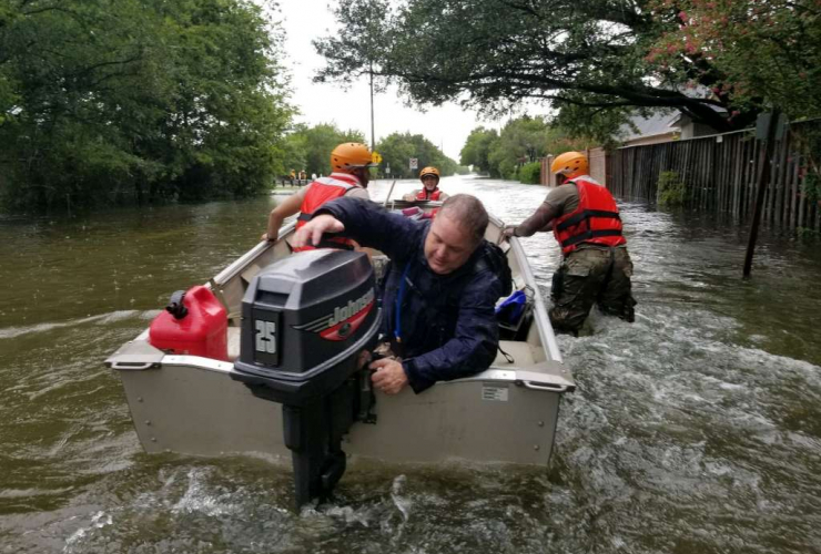Kyle Burns, Houston Flooding, Hurricane Harvey