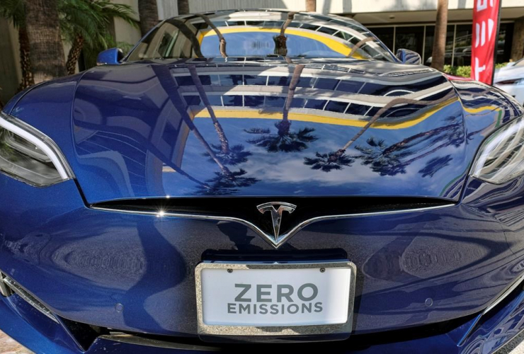 Electric car, zero emissions, Associated Press