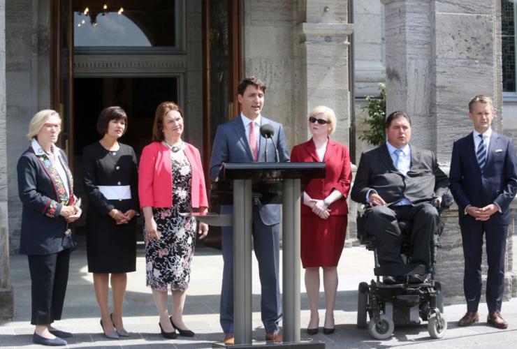 Justin Trudeau, cabinet shuffle, Rideau Hall, David Johnston
