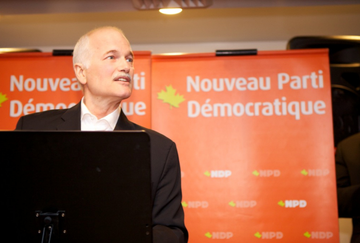 "Former NDP Leader Jack Layton lead an ""orange wave"" in Quebec in 2011. Photo courtesy of NDP Flickr account"