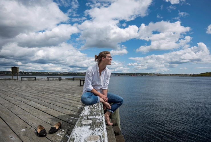 Anika Riopel, public swimming area, Halifax Harbour, waterfront, Halifax